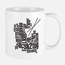 Knitting Abbreviation Cloud Mugs