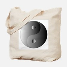 Yin and Yang, Shades of Grey Tote Bag