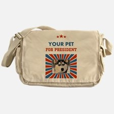 Custom Your Pet For President Messenger Bag