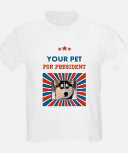 Custom Your Pet For President T-Shirt