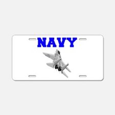 Navy Aluminum License Plate