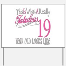 19th Birthday Gifts Yard Sign