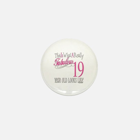 19th Birthday Gifts Mini Button