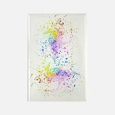 Funny Rainbow splatter t Rectangle Magnet