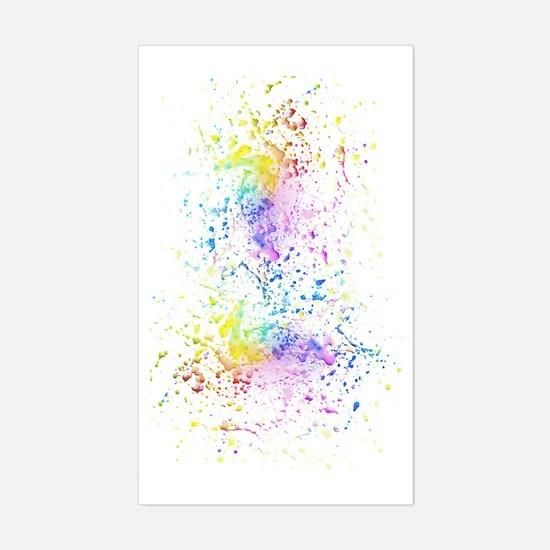 Cute Rainbow splatter Sticker (Rectangle)