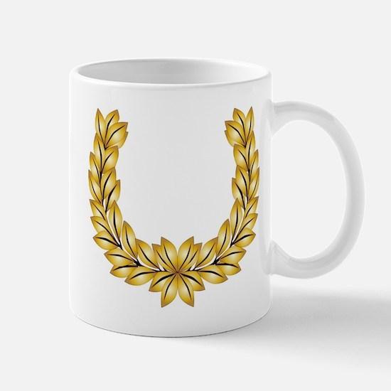 Golden Laurel Crown Mugs