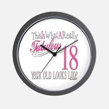 18th Birthday Gifts Wall Clock