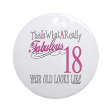 18th Birthday Gifts Ornament (Round)