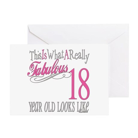 18th Birthday Gifts Greeting Card
