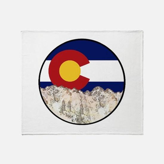 Cute Colorado boulder Throw Blanket