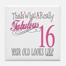 16th Birthday Gifts Tile Coaster