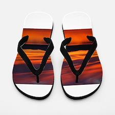 Summer Sunset Flip Flops