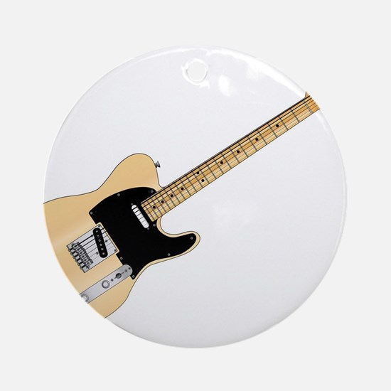 Rock Guitar Round Ornament