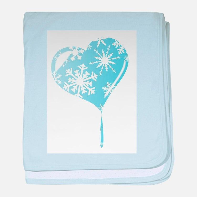Melting Ice Heart baby blanket