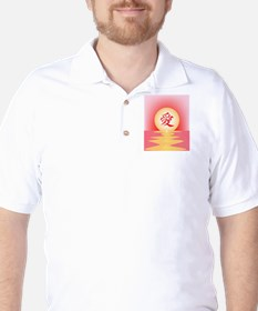 Chinese Love Ocean View Golf Shirt