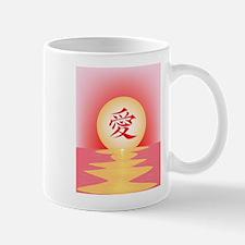 Chinese Love Ocean View Mugs