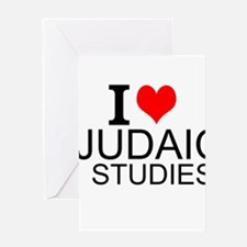 I Love Judaic Studies Greeting Cards