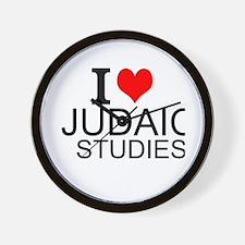 I Love Judaic Studies Wall Clock