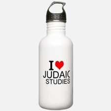 I Love Judaic Studies Water Bottle