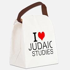 I Love Judaic Studies Canvas Lunch Bag