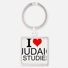 I Love Judaic Studies Keychains