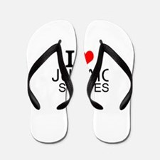 I Love Judaic Studies Flip Flops