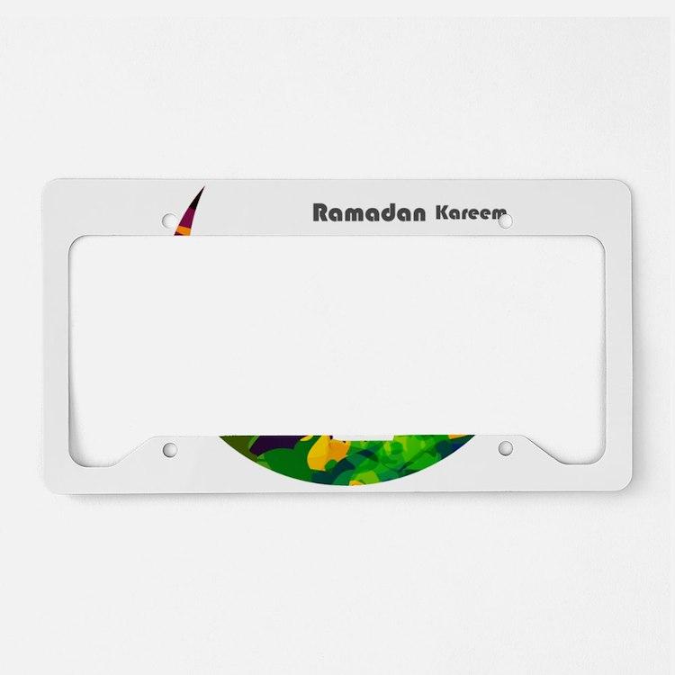 Colorful Ramadan Kareem desig License Plate Holder