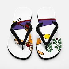 Kayaking Moose Flip Flops