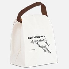 English is Tricky Canvas Lunch Bag