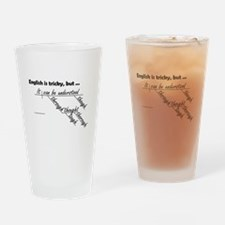 English is Tricky Drinking Glass