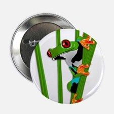 """Cute frog on grass 2.25"""" Button (10 pack)"""