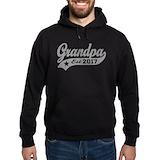 Grandpa since 2017 Hoodie (dark)