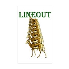 Springboks Rugby Lineout Decal