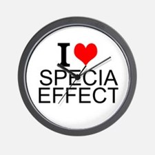 I Love Special Effects Wall Clock