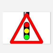 Men at Work Traffic Sign Postcards (Package of 8)