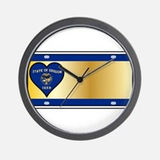 Oregon State License Plate Wall Clock