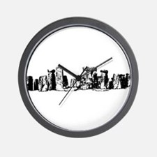 Stonehenge line art Wall Clock