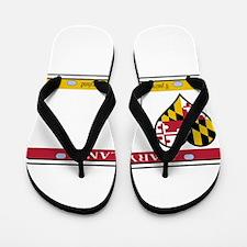 Maryland License Plate Flip Flops
