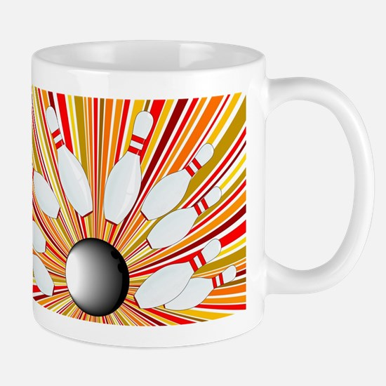Ten Pin Splash Mugs