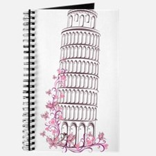 Beautiful floral leaning tower of pisa Journal