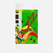 Musical Background Beach Towel