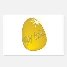 Gold Easter Egg Postcards (Package of 8)