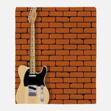 Cute Fender guitar Throw Blanket