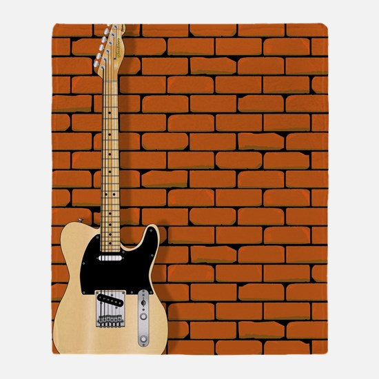 Funny Fender guitar Throw Blanket