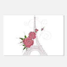 Vintage Eiffel tower desi Postcards (Package of 8)