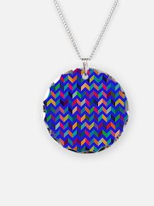 Cool Chevron V Pattern Wild Fun Colors Necklace
