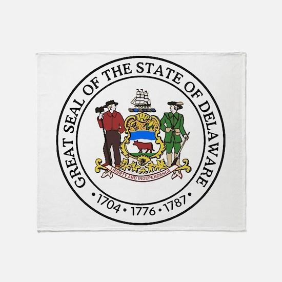 Great Seal of Delaware Throw Blanket