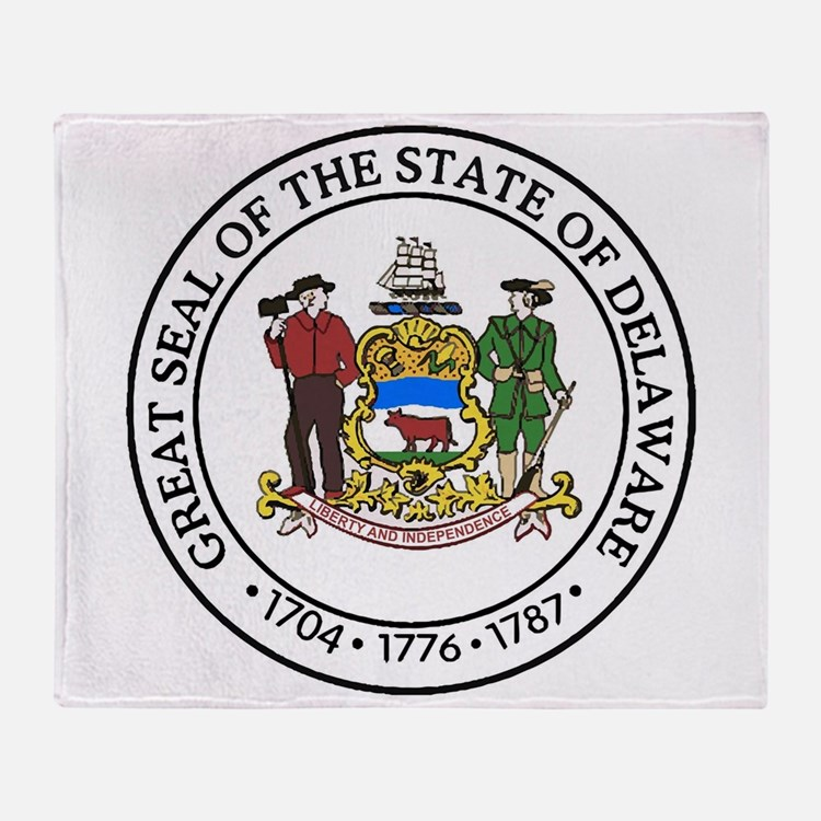 Great Seal of Delaware Throw Blanket