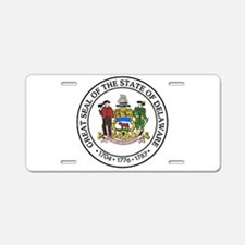 Great Seal of Delaware Aluminum License Plate