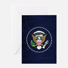 President Seal Eagle Greeting Cards